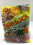 Alteno Super Rico Pina Loca paleta (Pineapple lollipop with chilli) 40-pcs