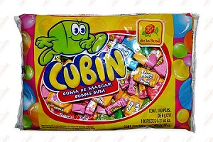 De La Rosa Cubin Bubble gum 100-pcs bag