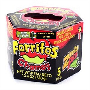 Zumba Pica Forritos Cubre Manzanas Chamoy -Carael Coating for apples- (24X5)-pcs each box