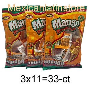 3x Jovy Mango Revolcado Chili covered hard candy 6-oz bag