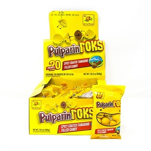 PulparinRoks Spicy coated tamarind filled candy 20-pcs box Net Wt 1-lb 5-oz