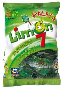 Paleta Limon 7 covered with lemon and salt powder 30-pcs