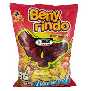 Beny Rindo acidulated hard candy filled tamarind flavor 65-pcs bag with 1-Lb 6-oz (650g)