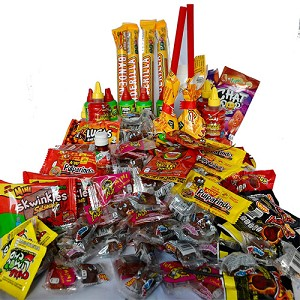 Deluxe Spicy Mexican Candy Mix 4 Pounds, Best Brands of Mexican Candy