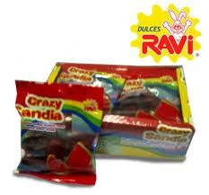 Ravi Crazy Sandia (watermelon) Hot Jellies 12pz