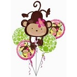 Monkey Love Balloon Bouquet 5 Balloons in box